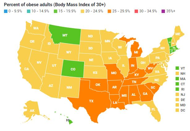 US Obesity Levels by State - Obesity - ProCon.org on obesity death, obesity in canada, obesity statistics in america, obesity rates in america 2013, obesity states, obesity in us 2012, diabetes trends map, food trends map, flu trends map,