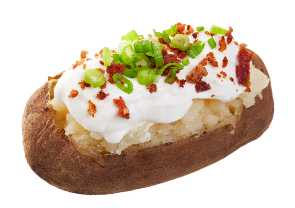 baked potato portion size
