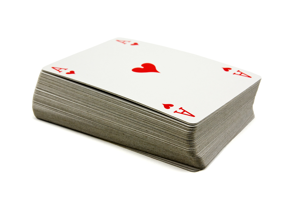 deck of cards portion