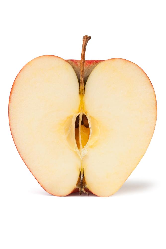 half apple portion size