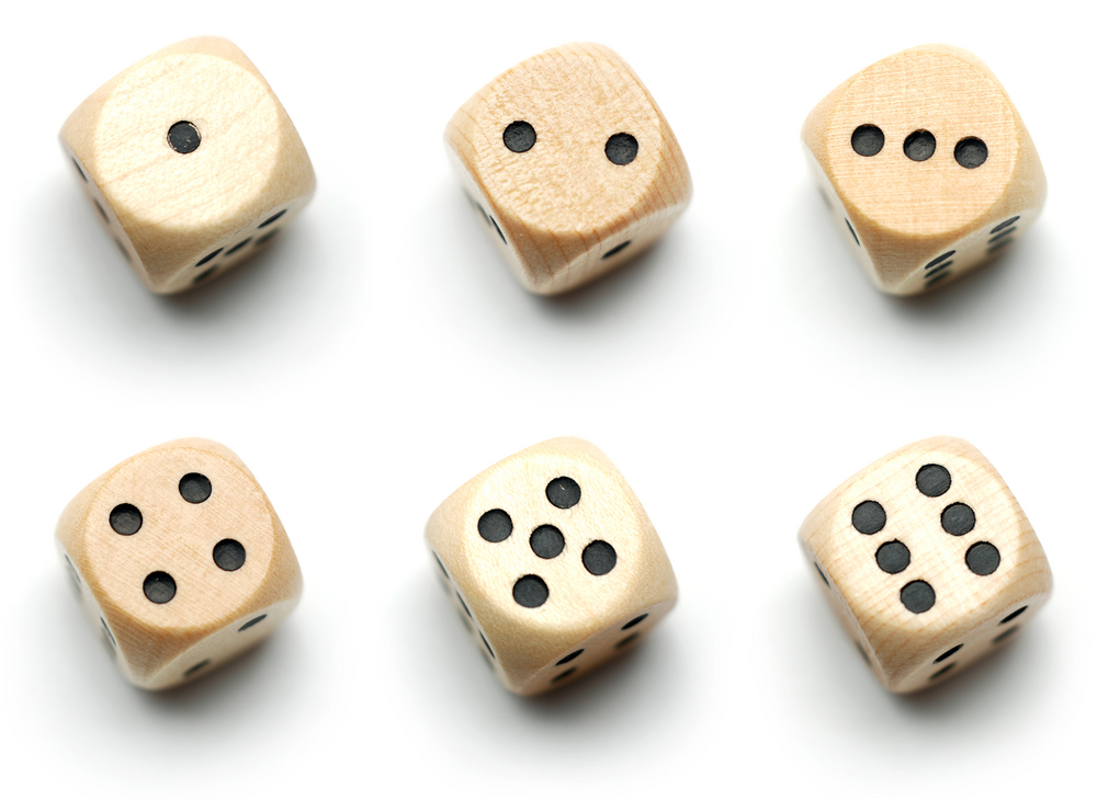 six dice portion size