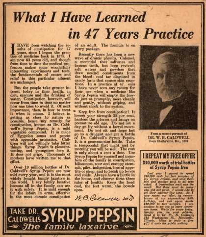 Dr. Caldwell's Syrup Pepsin