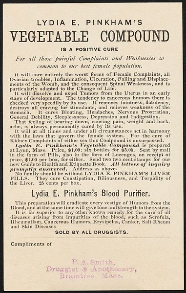 lydia e pinkhams vegetable purifier