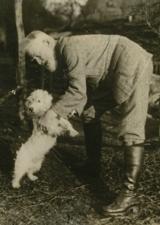 George Bernard Shaw with dog
