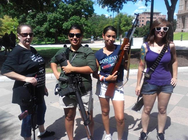Open Carry Activists with Rifles