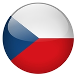 czech republic flag button