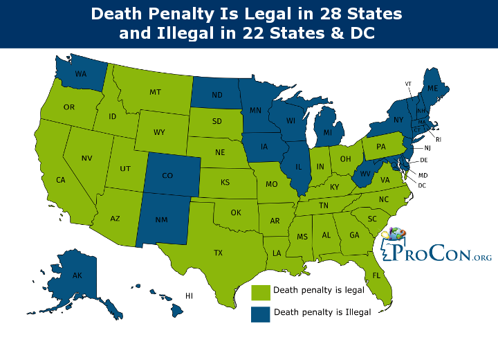Us States With Death Penalty Map States with the Death Penalty and States with Death Penalty Bans