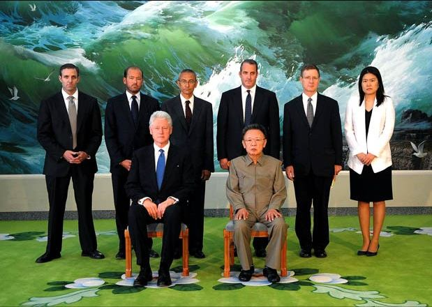 Clinton posed for a photo with North Korean leader Kim Jong-il while on a 2009 diplomatic mission to secure the release of two US journalists.