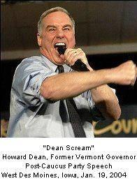 Dean scream Howard Dean former Vermont guvernor post caucus-party speech West Des Moines Iowa January 19 2004